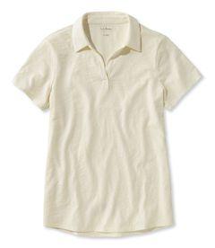 オーガニック・コットン・ティ、半袖 スプリットネック ポロシャツ, , hi-res