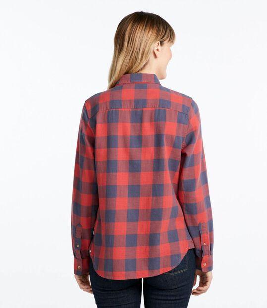 エル・エル・ビーン・ヘリテージ・ウォッシュ・ツイル・シャツ、長袖 プラッド, , hi-res