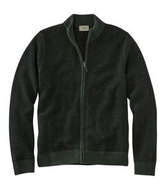 ウォッシャブル・メリノウール・セーター、フルジップ, , hi-res