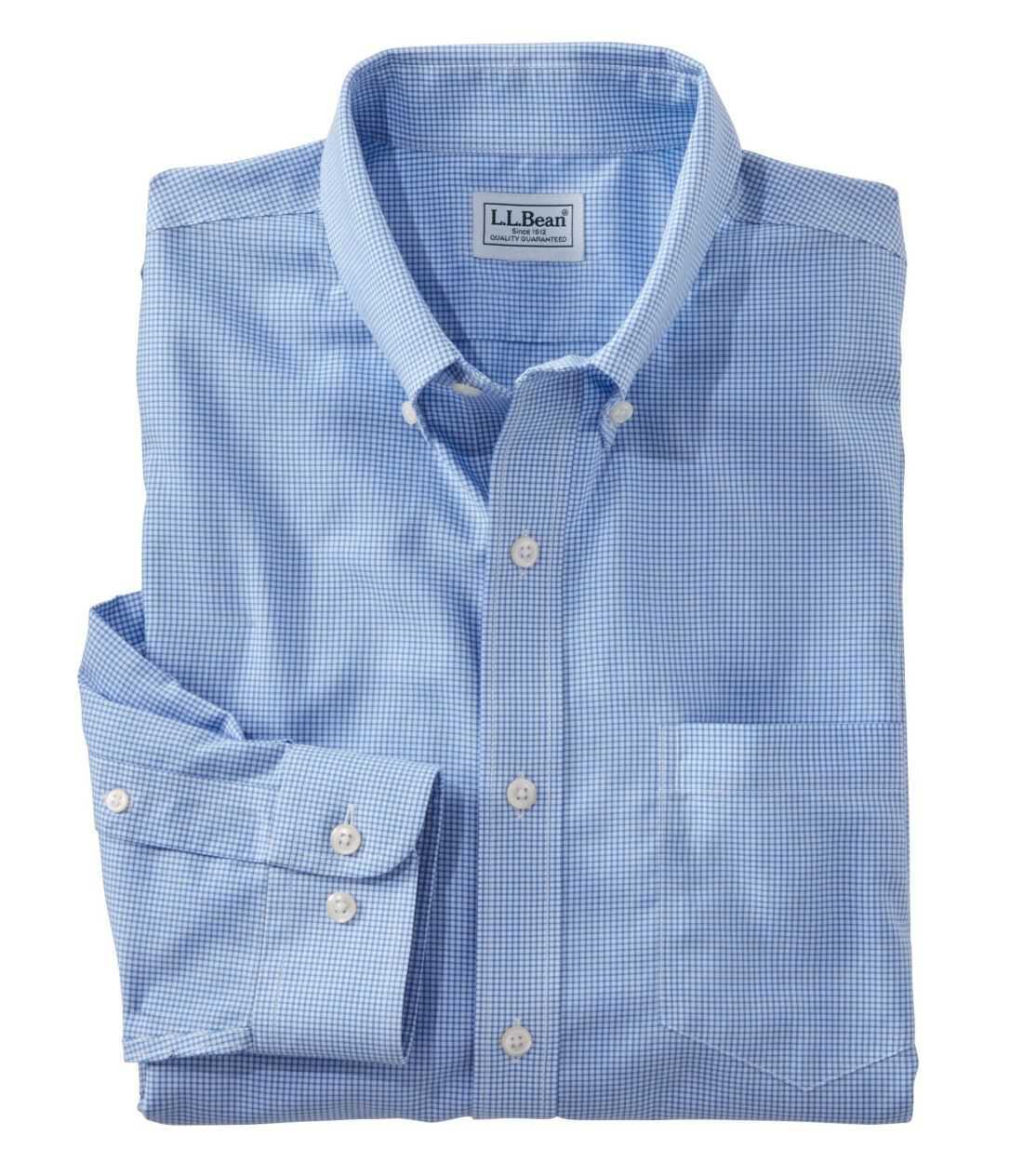 リンクルフリー(形態安定)・チェック・シャツ、長袖