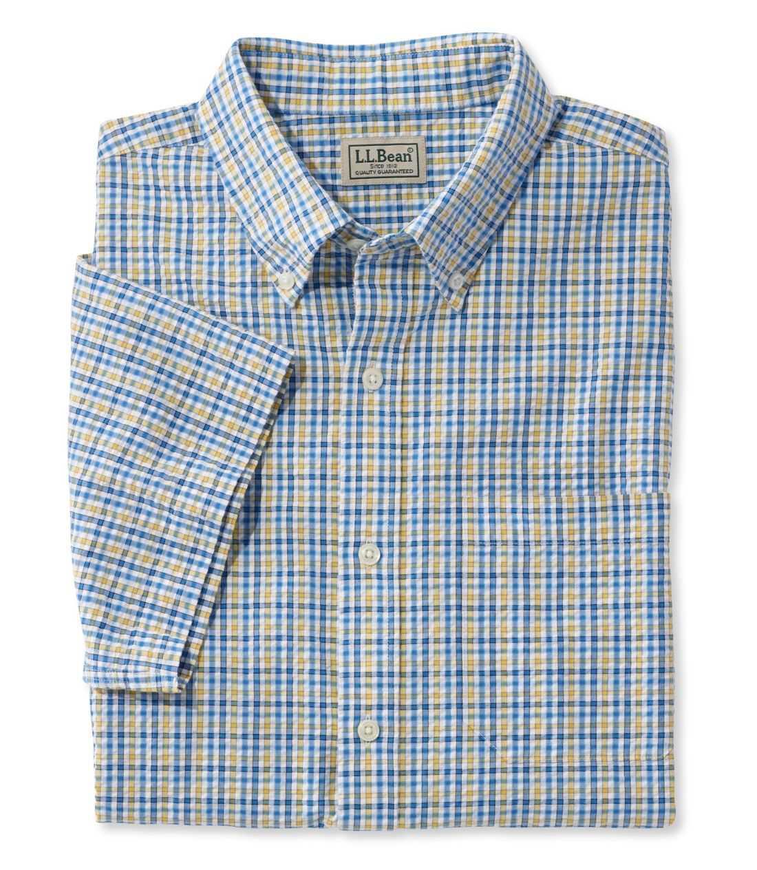 シアサッカー・シャツ、半袖 タターソル
