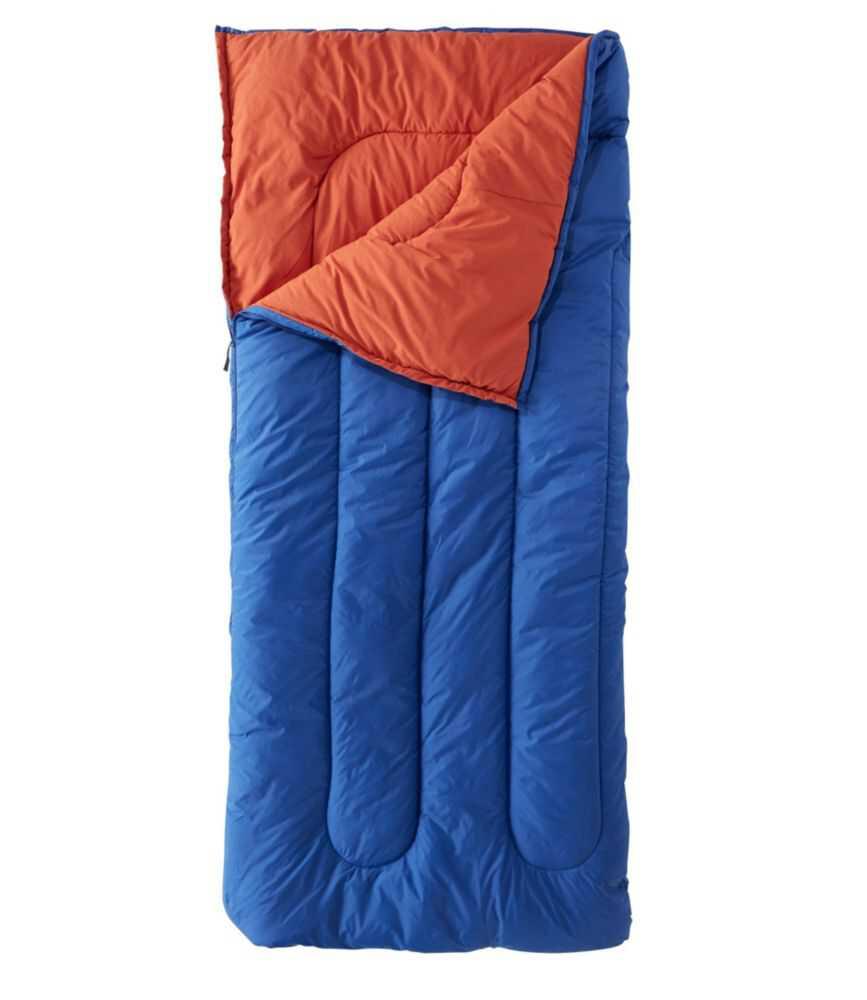キャンプ・スリーピング・バッグ、混紡素材の裏地付き レギュラー 4℃