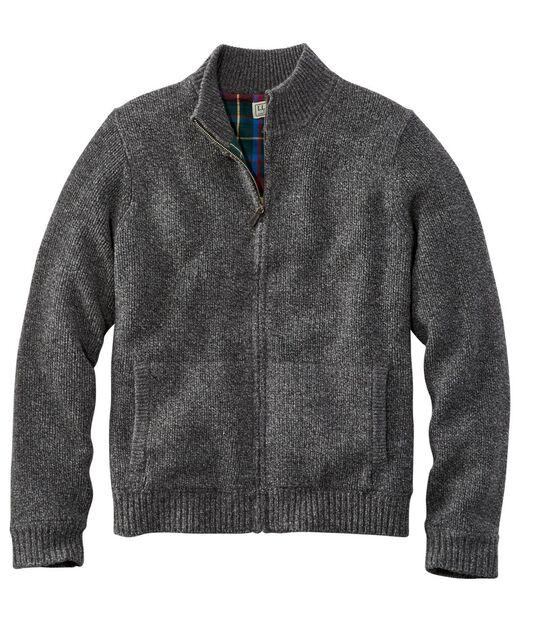 エル・エル・ビーン・クラシック・ラグ・ウール・セーター、裏地付き フルジップ, , hi-res
