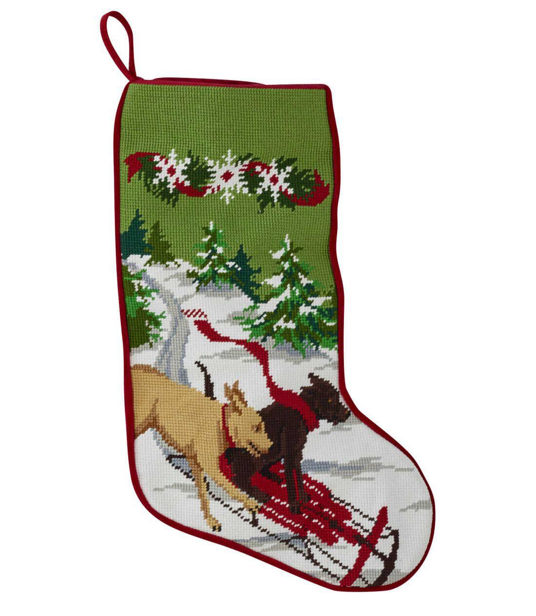 クリスマス・ニードルポイント・ストッキング
