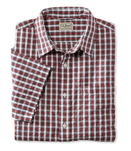タータン・シアサッカー・シャツ、半袖, , hi-res