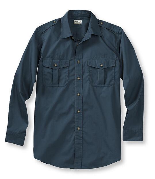 コットン・ポプリン・フィールド・シャツ、長袖, , hi-res