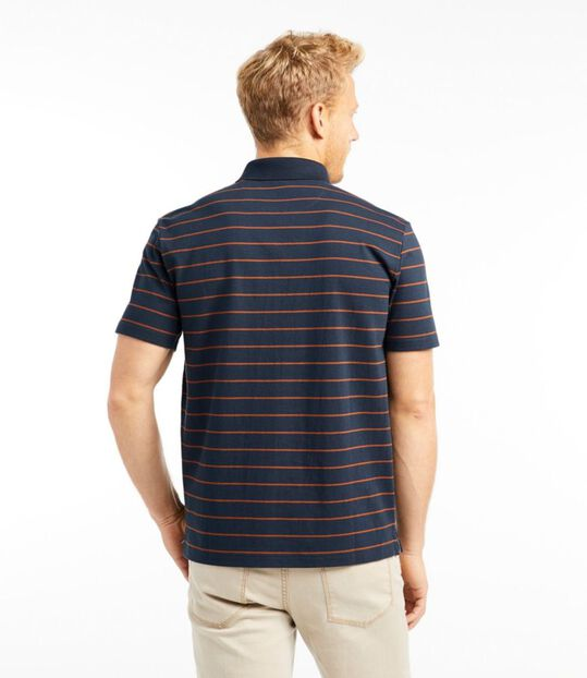 シグネチャー・ポロシャツ、半袖 ストライプ, , hi-res