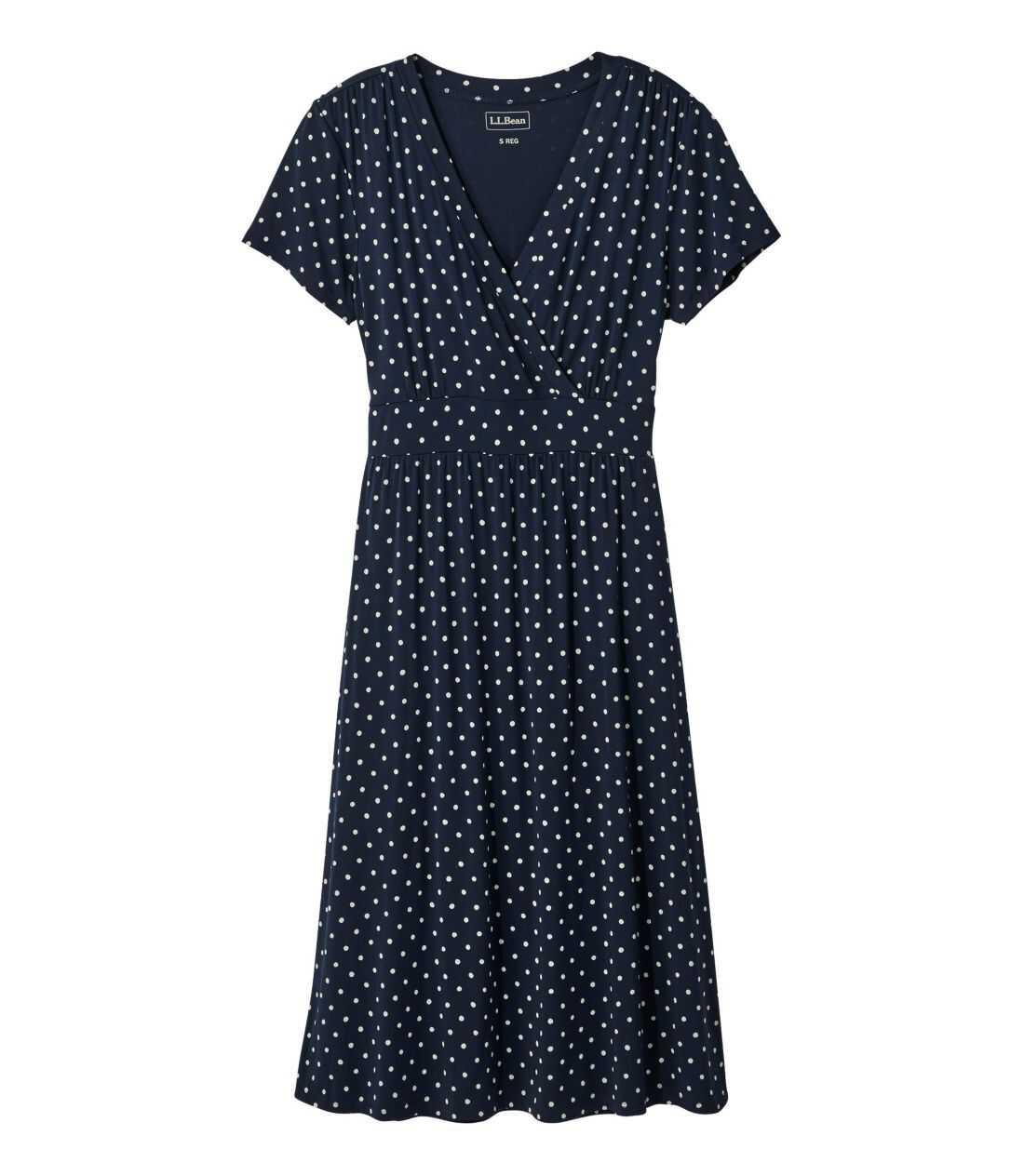 サマー・ニット・ドレス、半袖 プリント