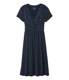 サマー・ニット・ドレス、半袖 プリント, , hi-res