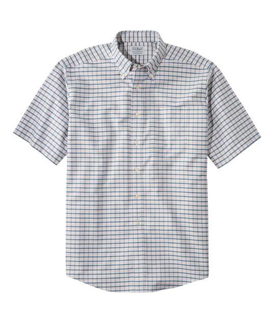 リンクルフリー(形態安定)・クラシック・オックスフォード・クロス・シャツ、半袖 プラッド, , hi-res