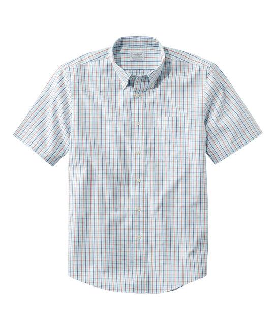 リンクルフリー(形態安定)・ピンポイント・オックスフォード・クロス・シャツ、半袖 スライトリー・フィット タターソル, , hi-res