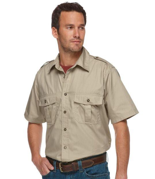 コットン・ポプリン・フィールド・シャツ、半袖, , hi-res