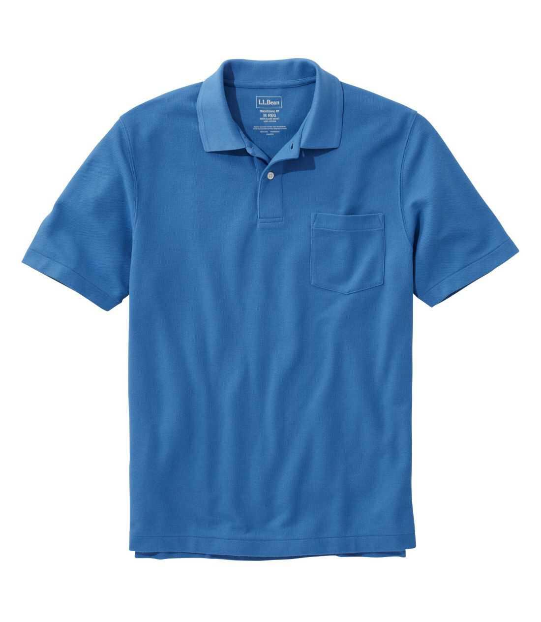 プレミアム・ダブル・エル・ポロシャツ、半袖 ポケット付き