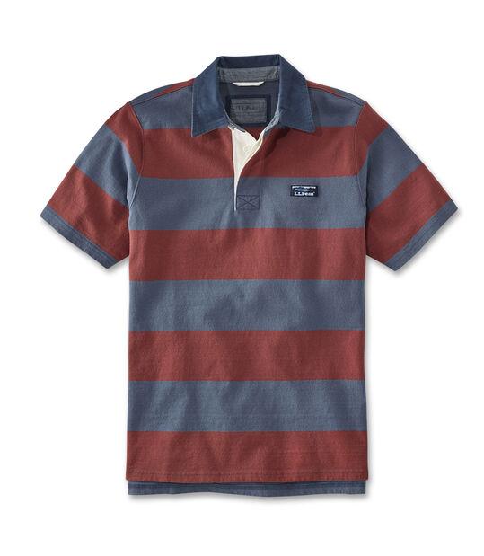 レイクウォッシュ・ラグビー・シャツ、半袖 ストライプ, , hi-res