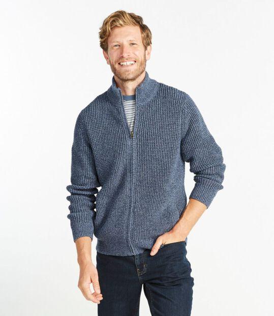 オーガニック・コットン・セーター、フルジップ, , hi-res