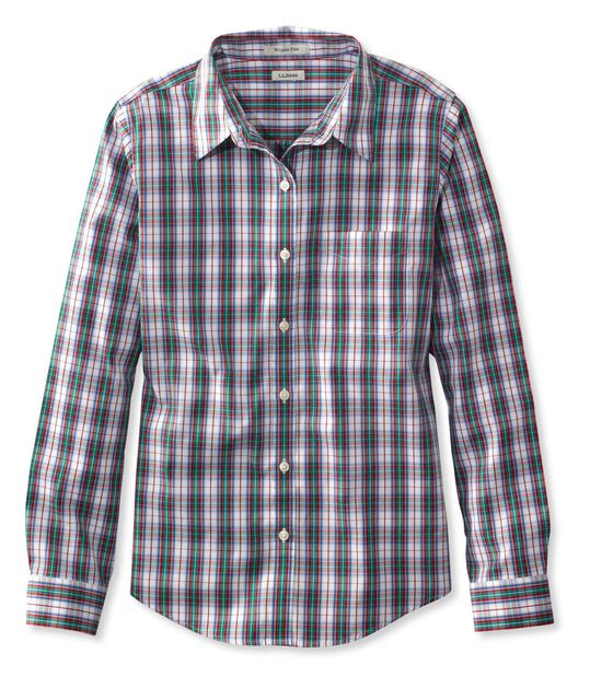 リンクルフリー(形態安定)・ピンポイント・オックスフォード・シャツ、オリジナル 長袖 プラッド, , hi-res