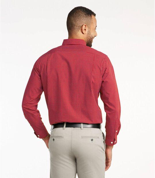 リンクルフリー(形態安定)・チェック・シャツ、長袖, , hi-res