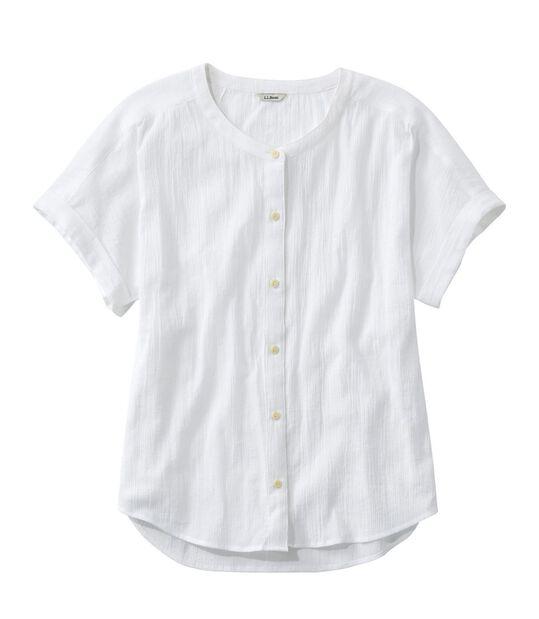 ソフト・コットン・クリンクル・シャツ、半袖, , hi-res