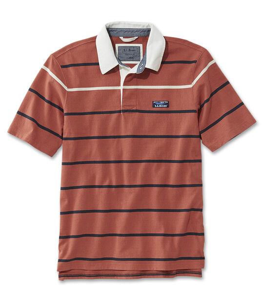 レイクウォッシュ・ラグビー・シャツ、半袖 マルチ・ストライプ, , hi-res