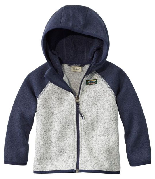 乳幼児・エル・エル・ビーン・セーター・フリース、フード付き カラーブロック, , hi-res