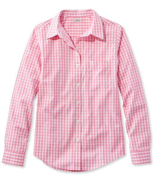リンクルフリー(形態安定)・ピンポイント・オックスフォード・シャツ、オリジナル 長袖 ギンガム, , hi-res