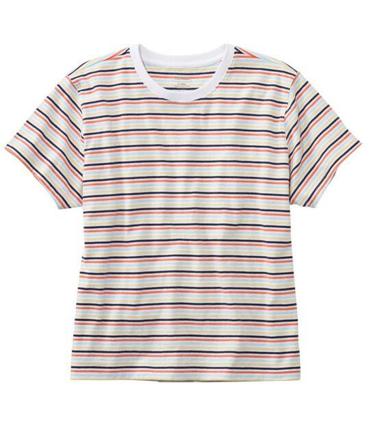 サタデーTシャツ、クルーネック ストライプ 半袖, , hi-res