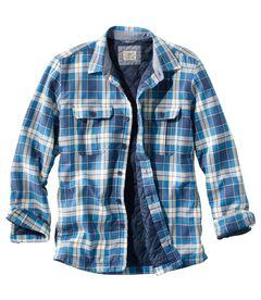 プリマロフト・シャツ・ジャケット、スライトリー・フィット プラッド, , hi-res