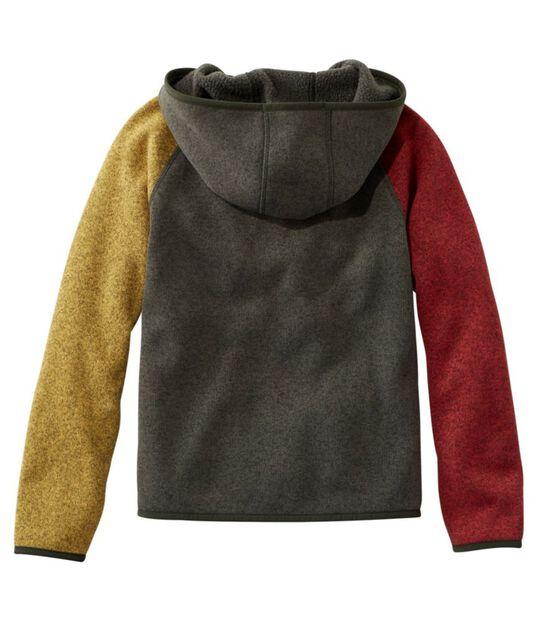 エル・エル・ビーン・セーター・フリース、フード付き カラーブロック, , hi-res