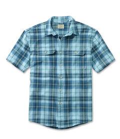 ジャパン・フィット サンウォッシュ・キャンバス・シャツ、半袖 プラッド, , hi-res