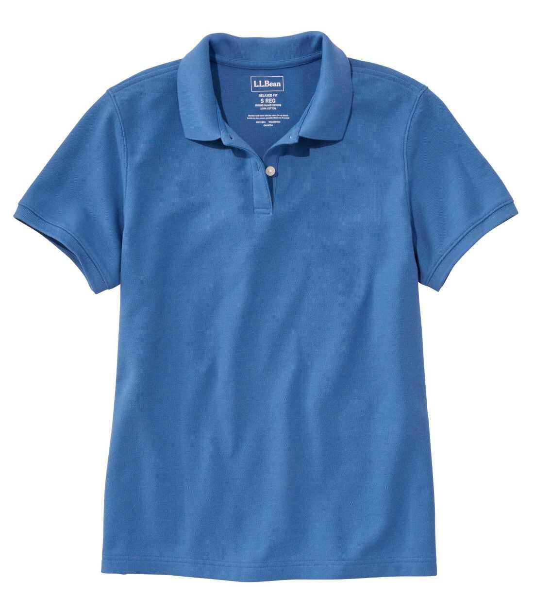 プレミアム・ダブル・エル・ポロシャツ、リラックス・フィット 半袖