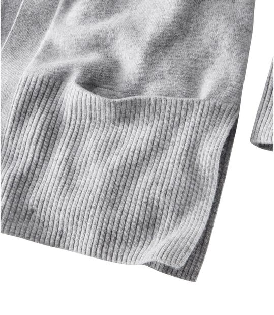 クラシック・カシミヤ・セーター、ポケット付きオープン・カーディガン, , hi-res