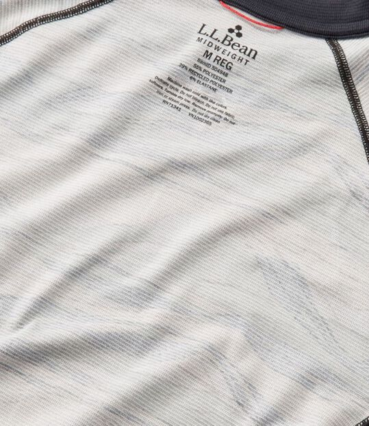 エル・エル・ビーン・ミッドウェイト・ベースレイヤー・クルー、長袖 プリント, , hi-res