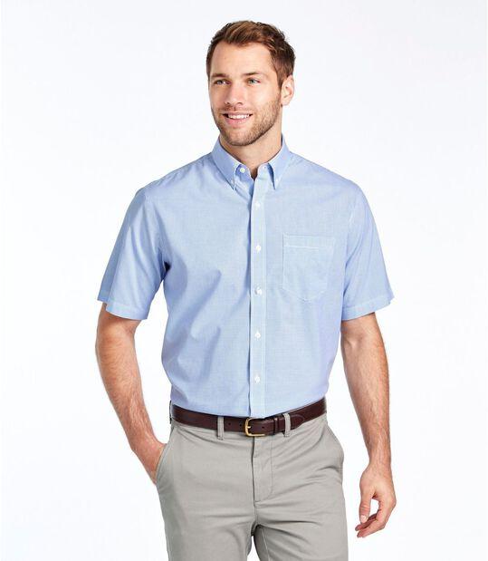 リンクルフリー(形態安定)・チェック・シャツ、半袖, , hi-res