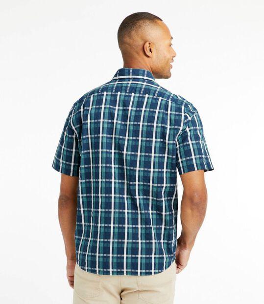 オーガニック・コットン・シアサッカー・シャツ、半袖 プラッド, , hi-res