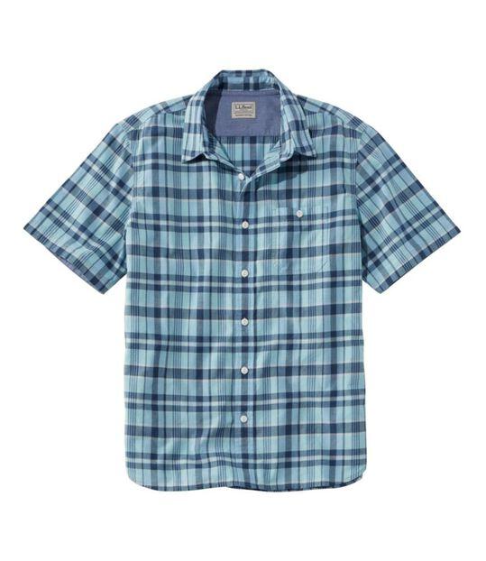 レイクウォッシュ・オーガニック・コットン・キャンプ・シャツ、半袖 プラッド, , hi-res