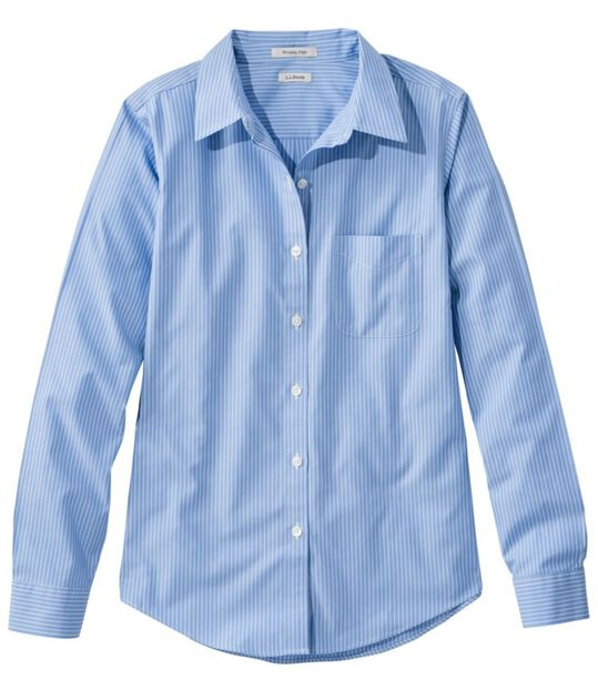 リンクルフリー(形態安定)・ピンポイント・オックスフォード・シャツ、オリジナル 長袖 ストライプ, , hi-res