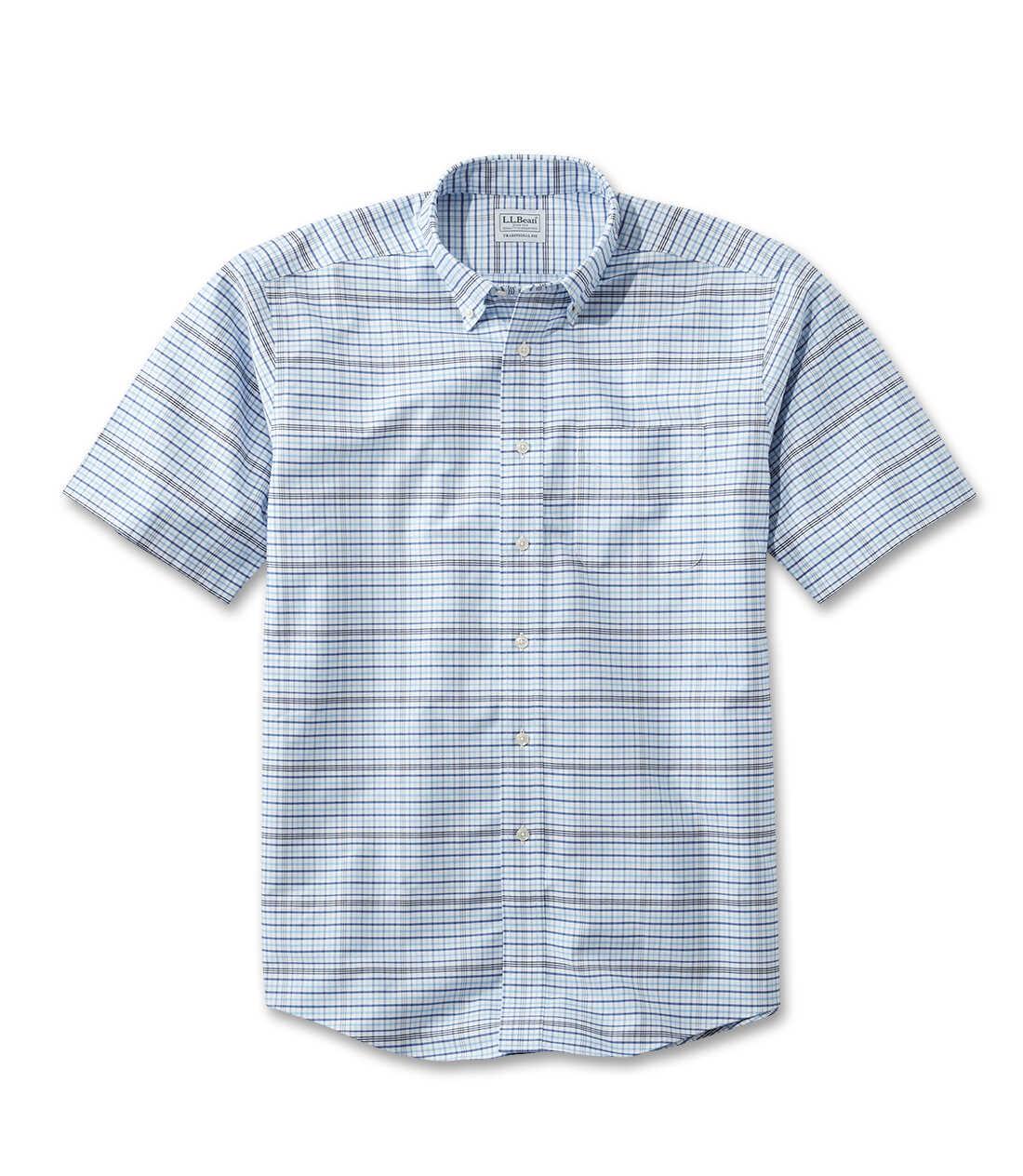 リンクルフリー(形態安定)・クラシック・オックスフォード・クロス・シャツ、半袖 タターソル
