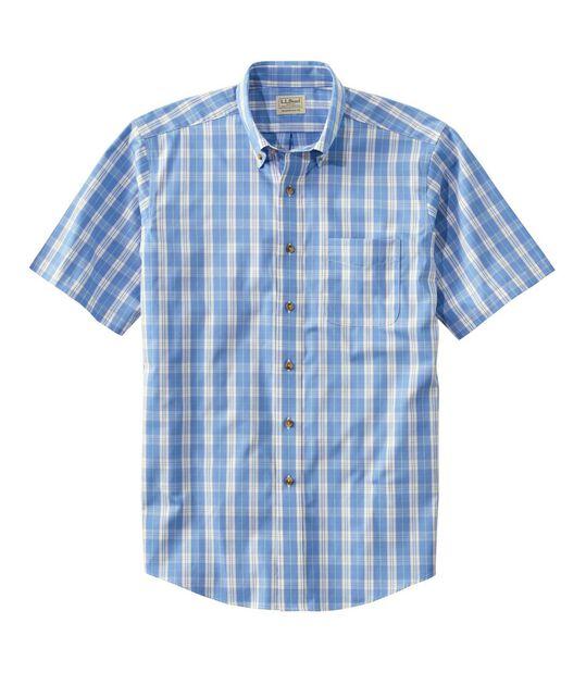 リンクルフリー(形態安定)・ツイル・スポーツ・シャツ、半袖 プラッド, , hi-res