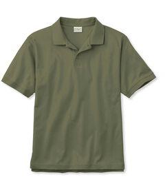 ピマ・ポロシャツ、袖口にリブ編み付きの半袖, , hi-res