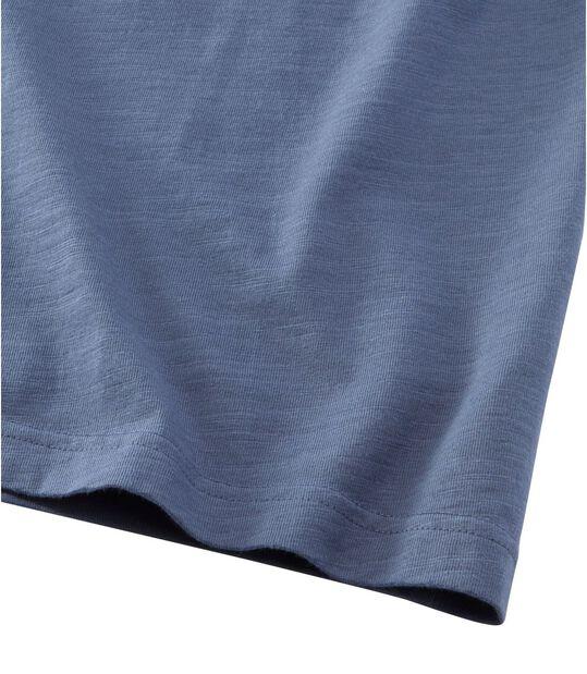 レイクウォッシュ・オーガニック・コットン・シャツ、半袖 ヘンリー, , hi-res