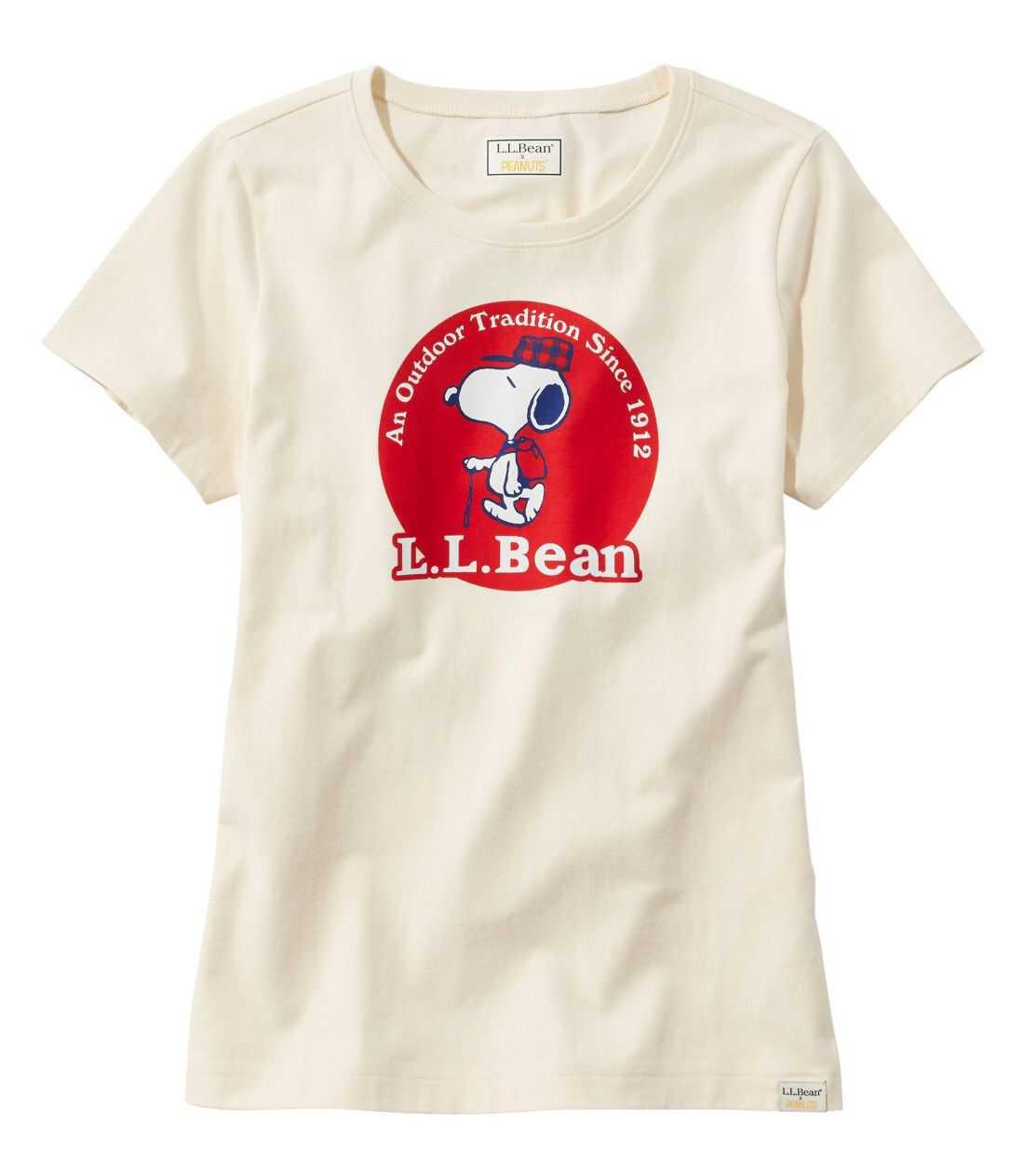L.L.Bean x Peanuts ティ、半袖