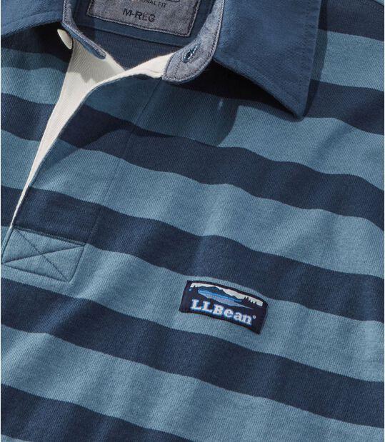 レイクウォッシュ・ラグビー・シャツ、長袖 ストライプ, , hi-res