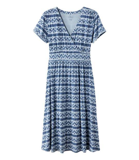 サマー・ニット・ドレス、半袖 イカット, , hi-res