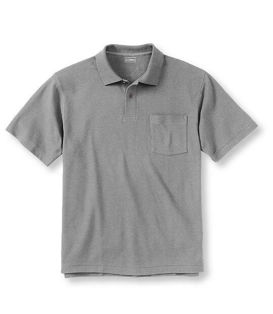 プレミアム・ダブル・エル・ポロシャツ、半袖 無地 ポケット付き, , hi-res