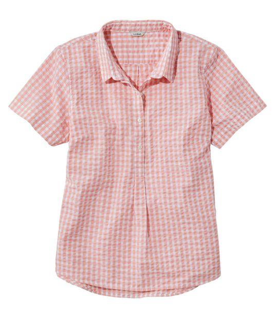 バケーションランド・シアサッカー・シャツ、ポップオーバー 半袖 プラッド, , hi-res