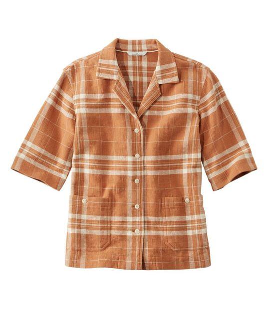 シグネチャー・クール・ウィーブ・キャンプ・シャツ、半袖 パターン, , hi-res