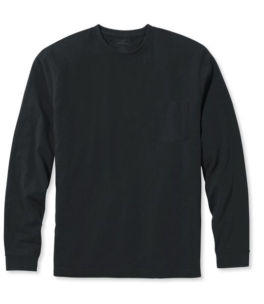 ケアフリー・アンシュリンカブル・ティ、長袖 ポケット付き, , hi-res