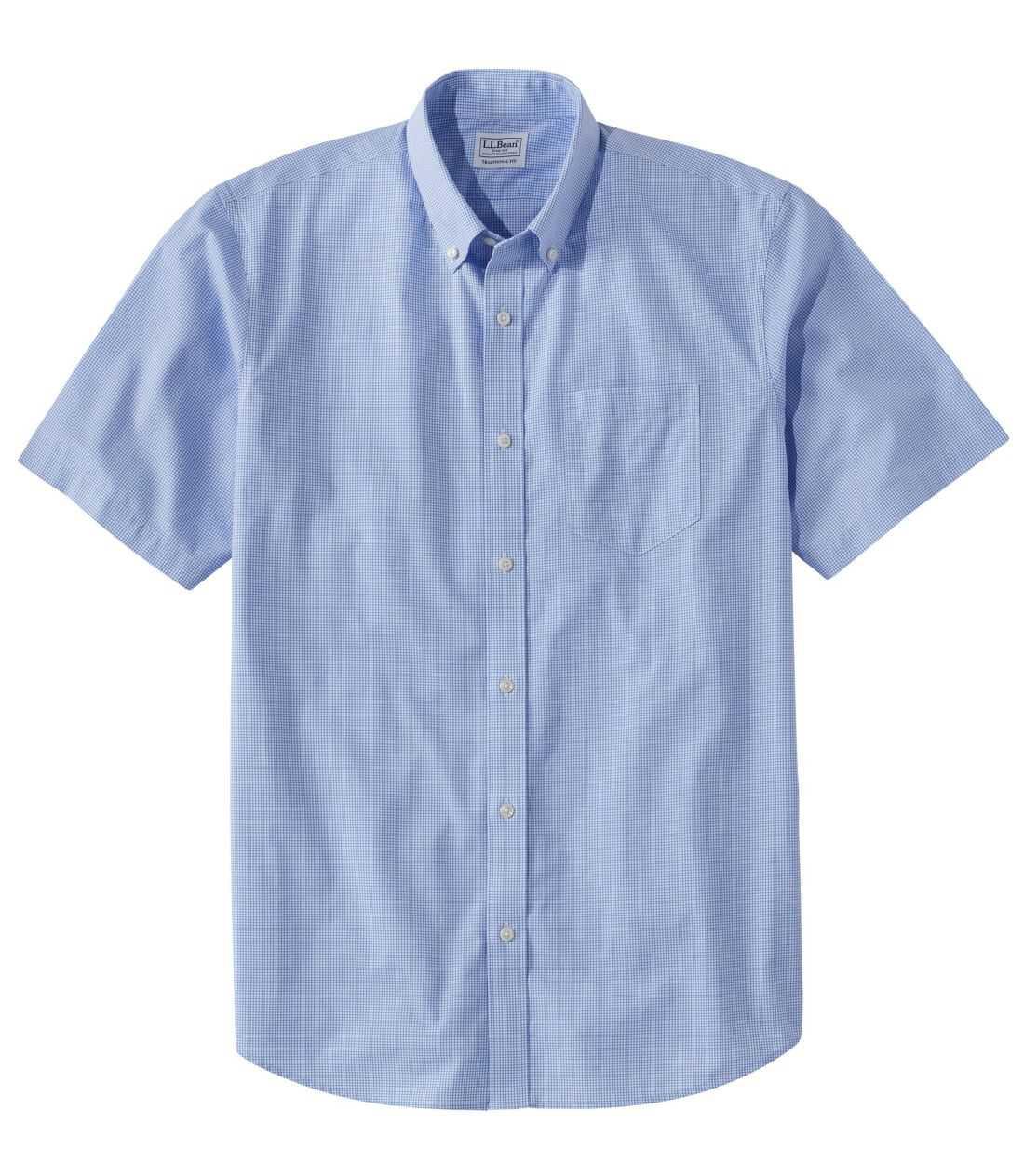 リンクルフリー(形態安定)・ケネバンク・スポーツ・シャツ、トラディショナル・フィット 半袖 チェック