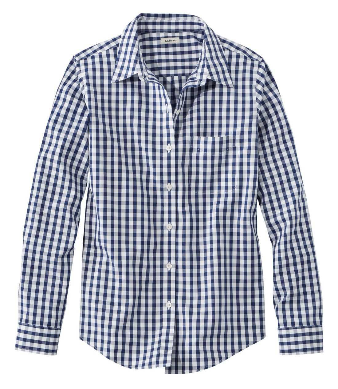 リンクルフリー(形態安定)・ピンポイント・オックスフォード・シャツ、オリジナル 長袖 プラッド