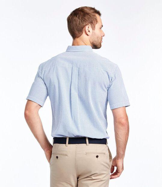 シアサッカー・シャツ、半袖 ギンガム, , hi-res